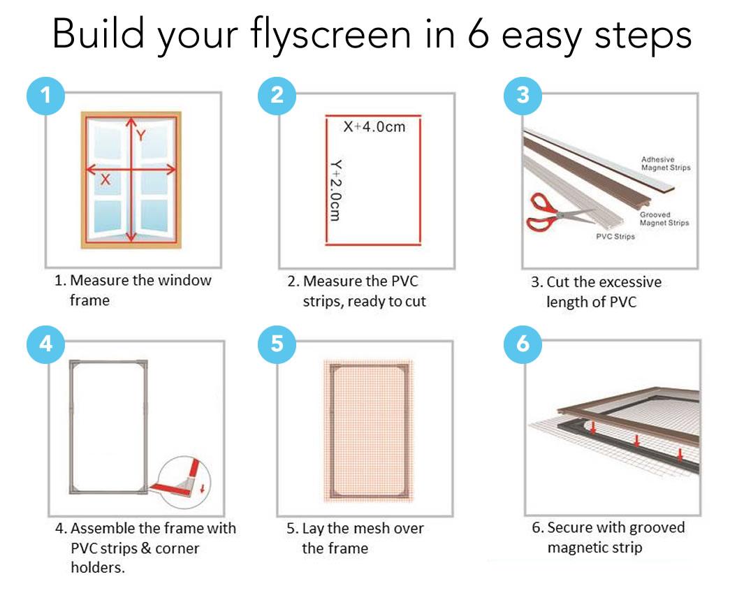 self install window flyscreens